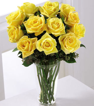 Yellow Rose Arrangement