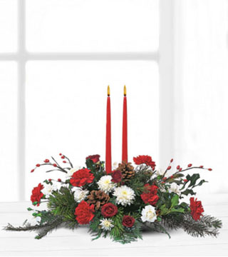 Teleflora's Holiday Delight Centrepiece