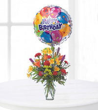 Birthday Bouquet with Balloon