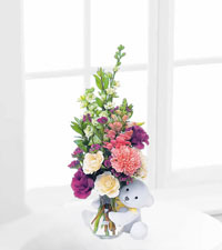 Teleflora's New Baby Bear with White Roses