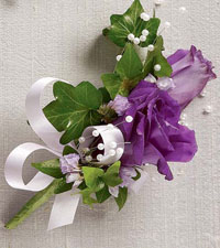 Purple Passion Pin On Corsage