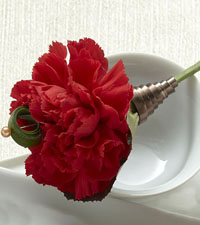 Red Carnation Boutonniere