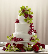Elegant Orchid Cake Decor
