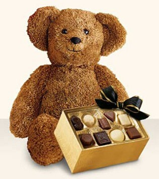 Bear with Boxed Chocolates