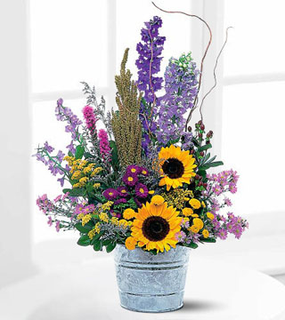 Teleflora's Country Thoughts Arrangement