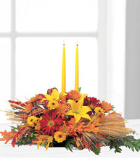 Bountiful Centrepiece with Tapers