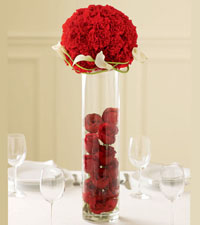 Rose Topiary Centrepiece