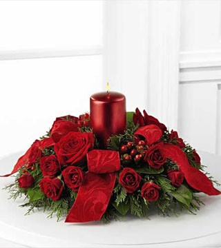 Season's Glow Red Centrepiece