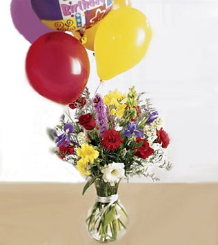 Colour Burst Birthday Arrangement