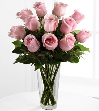 Pink Dozen Rose Bouquet